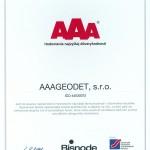 Certifikát 2013 AAA Geodet